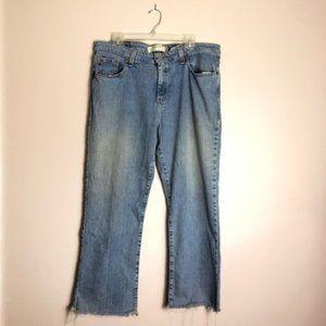 Vintage Levi's Frayed Hem Bootcut Jeans